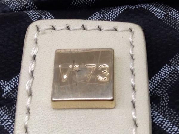V73(ヴィセッタンタトレ) トートバッグ 黒×グレー×ライトグレー