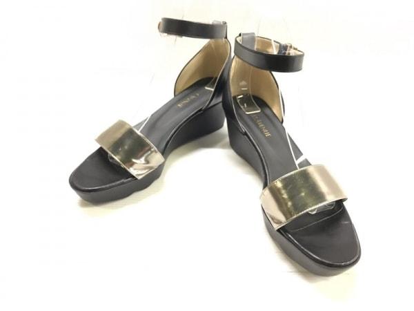 Hills Avenue 自由が丘(ヒルズ アベニュー) 靴 23.0 レディース 黒×シルバー レザー