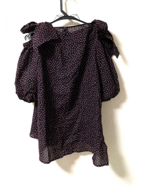 MUGUET(ミュゲ) ワンピース レディース美品  黒×ピンク ドット柄
