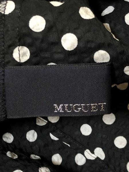 MUGUET(ミュゲ) ワンピース レディース美品  黒×白 ドット柄