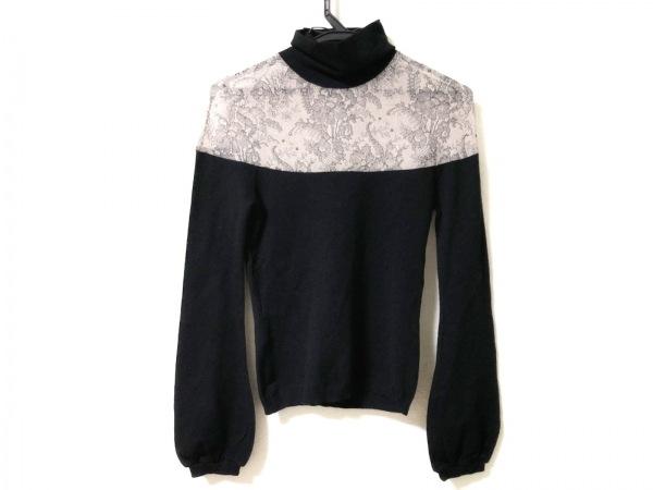 アレッサンドロデラクア 長袖セーター サイズ42 L レディース 黒×ベージュ×グレー