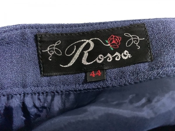 ROSSA(ロッサ) ロングスカート サイズ44 L レディース美品  ネイビー レース