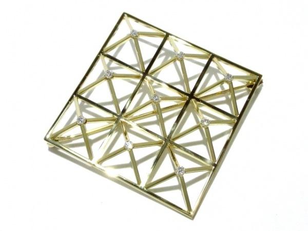 mikimoto(ミキモト) ブローチ新品同様  K18YG×ダイヤモンド 0.30カラット