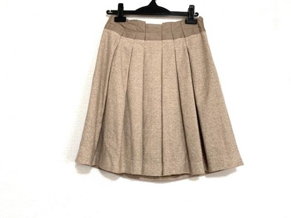 AMACA(アマカ) スカート サイズ36 S レディース美品  ライトブラウン ラメ/プリーツ