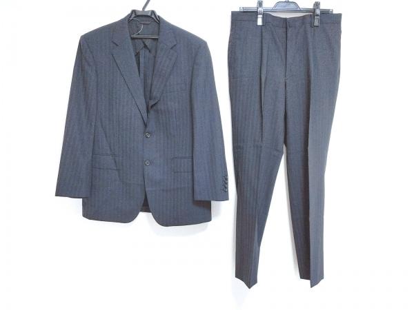 DURBAN(ダーバン) シングルスーツ メンズ新品同様  ダークネイビー ストライプ/刺繍