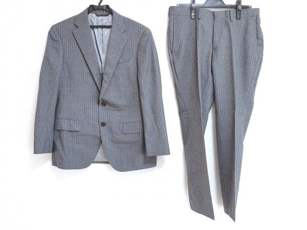 DURBAN(ダーバン) シングルスーツ メンズ美品  グレー×ダークグレー ストライプ
