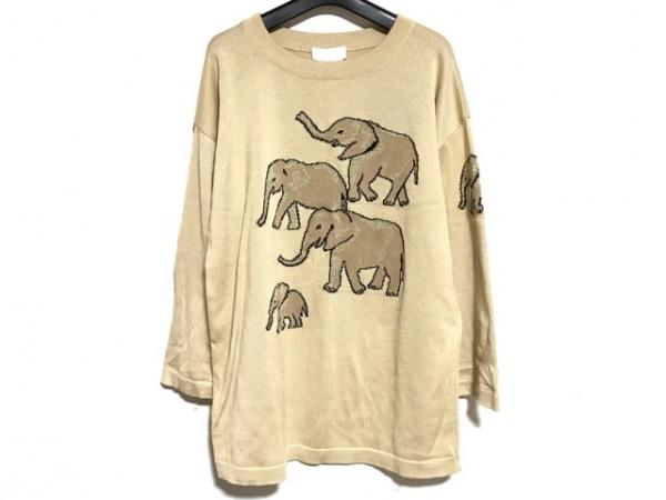 ESCADA(エスカーダ) 長袖セーター メンズ ライトグレー×グレー×黒×ゴールド
