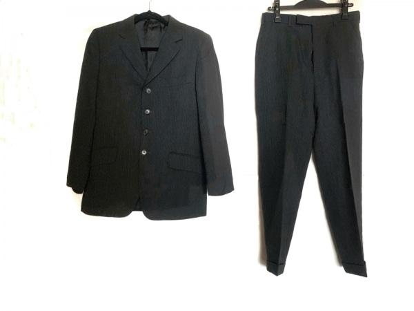 ポールスミス シングルスーツ サイズS メンズ美品  ダークグレー×白 ストライプ