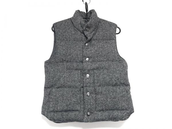 ジャーナルスタンダード ダウンベスト サイズM メンズ美品  黒×グレー
