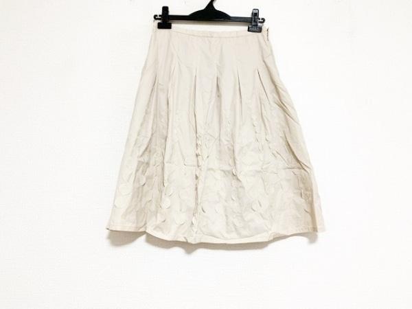 ピッコーネ スカート サイズ38 S レディース美品  ベージュ プリーツ/スパンコール