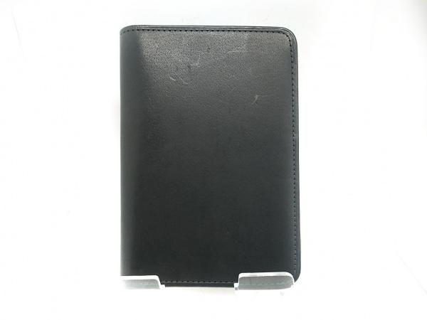 COACH(コーチ) 小物入れ - 黒 パスポートケース レザー