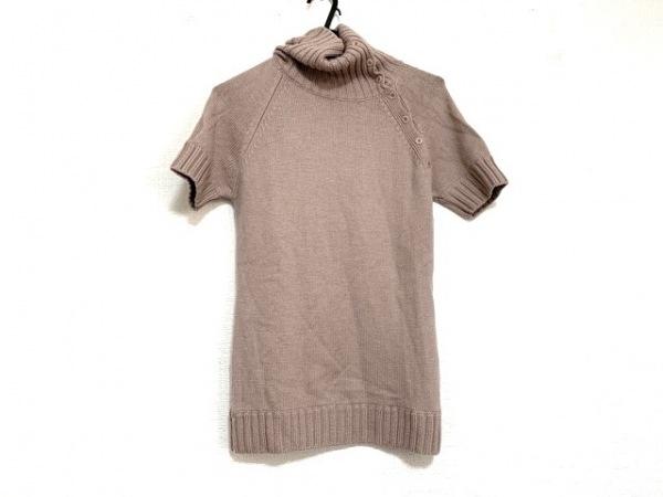 23区(ニジュウサンク) 半袖セーター サイズ40 M レディース ピンク タートルネック
