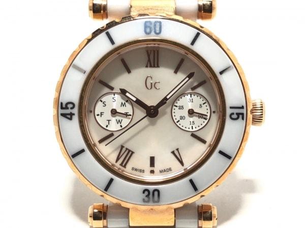 Gc(ジーシー) 腕時計 142004L1/07 レディース シェル文字盤 アイボリー