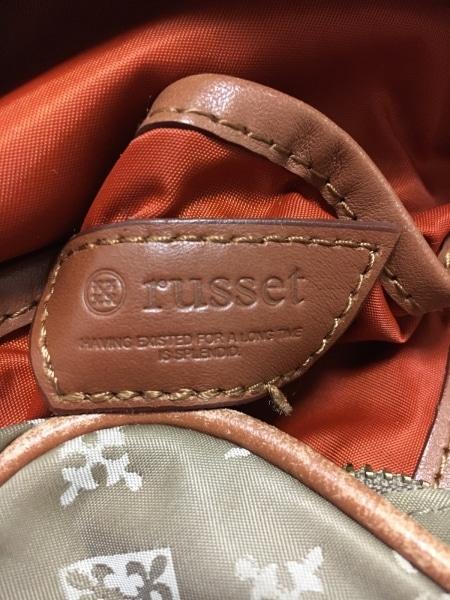 russet(ラシット) ショルダーバッグ - - ベージュ×ブラウン ナイロン×レザー