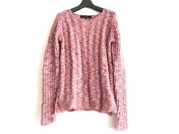 DESIGNWORKS(デザインワークス) 長袖セーター サイズ46 XL レディース - ピンク