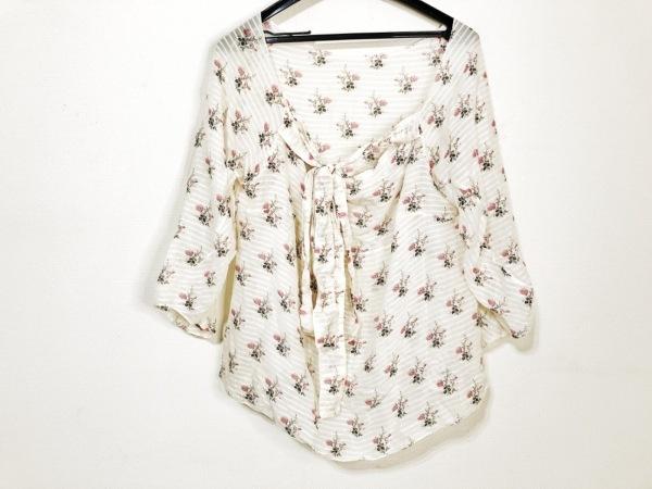 マルニ 半袖シャツブラウス サイズ38 S レディース ベージュ×ピンク×マルチ 花柄