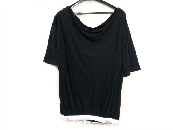 ディースクエアード 半袖カットソー サイズM メンズ 黒×白×マルチ ウエストゴム