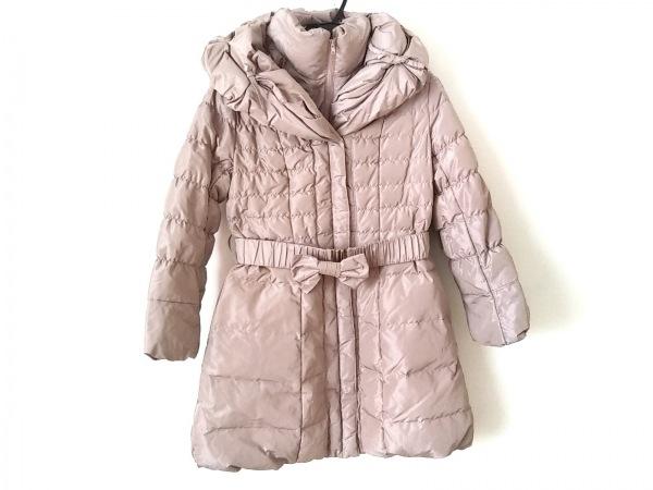 スーパービューティー ダウンコート サイズ42 L レディース美品  ピンクパープル 冬物