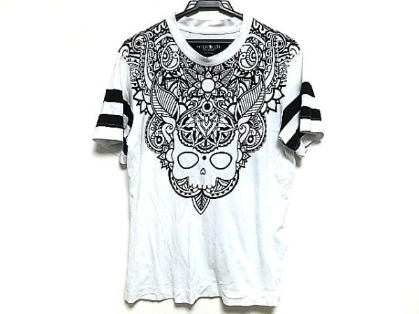 HYDROGEN(ハイドロゲン) 半袖Tシャツ メンズ美品  白×黒 スカル