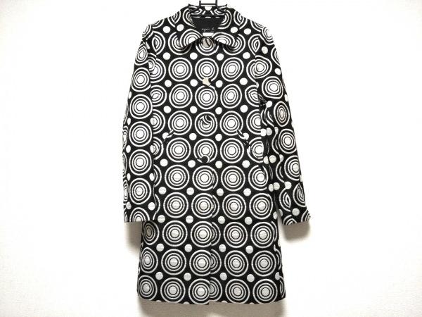 アニエスベー コート サイズ36 S レディース美品  - - 黒×シルバー 長袖/秋/冬
