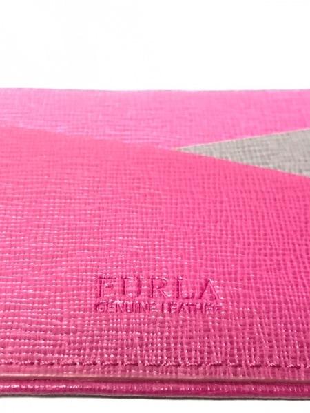 FURLA(フルラ) カードケース ボルドー×ピンク×ダークグレー レザー
