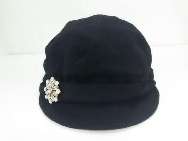 Rady(レディ) 帽子 F美品  黒 ビジュー ポリエステル×ウール