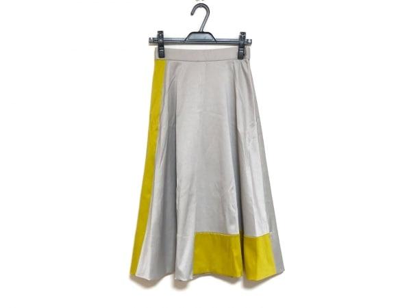 グレースクラス ロングスカート サイズ36 S レディース美品  ライトグレー×イエロー