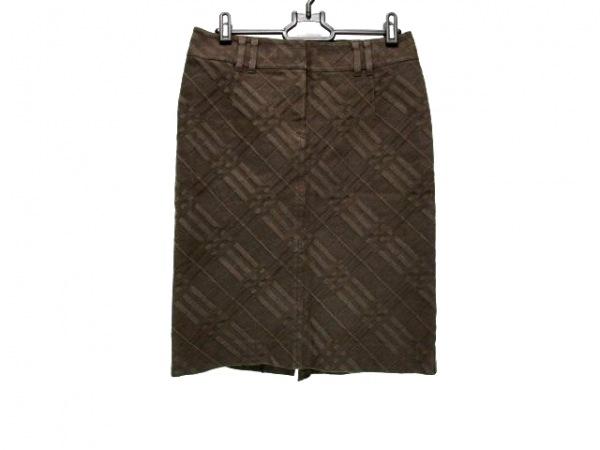 バーバリーロンドン ロングスカート サイズ38 L レディース ダークブラウン