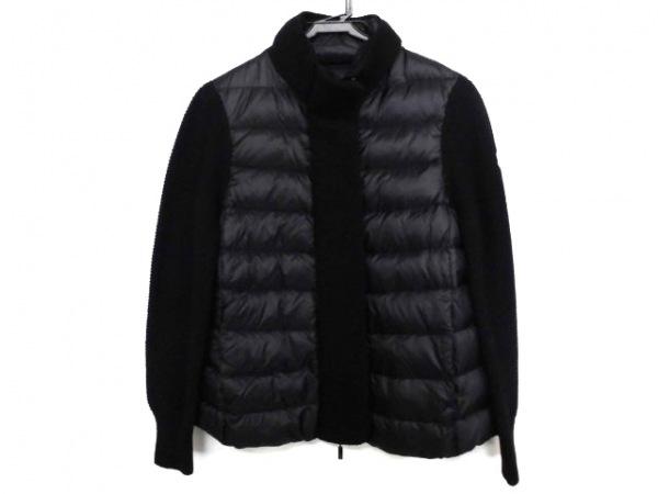 モンクレール ダウンジャケット サイズM M レディース美品  黒 冬物/袖ニット