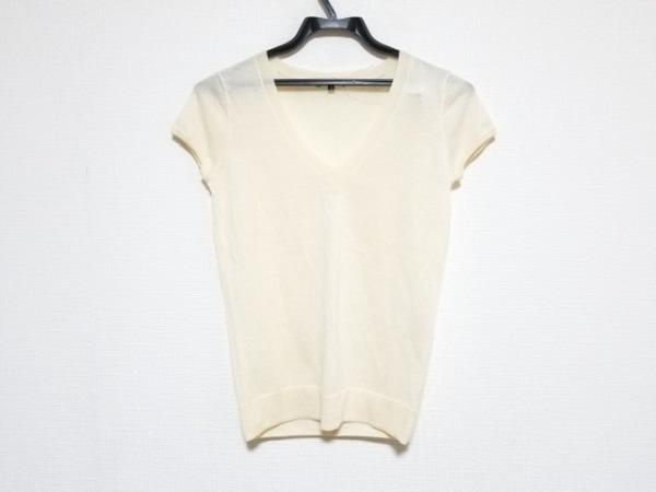 セオリー 半袖セーター サイズ2 S レディース美品  アイボリー ニット/Vネック