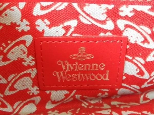 VivienneWestwood(ヴィヴィアンウエストウッド) 長財布 レッド がま口 レザー