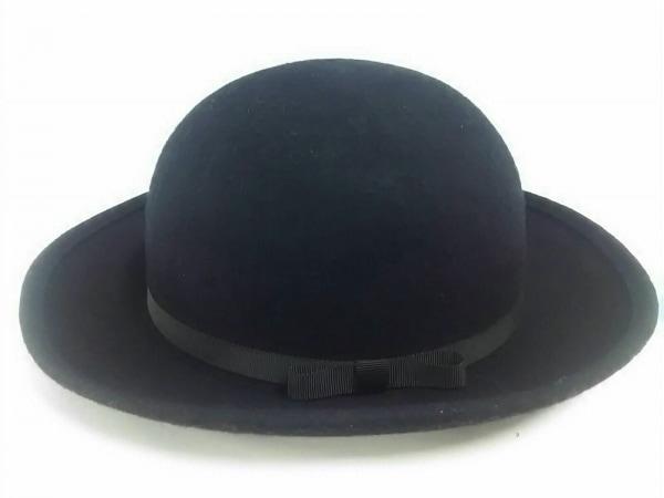 コムデギャルソン コムデギャルソン ハット S美品  黒 リボン ウール