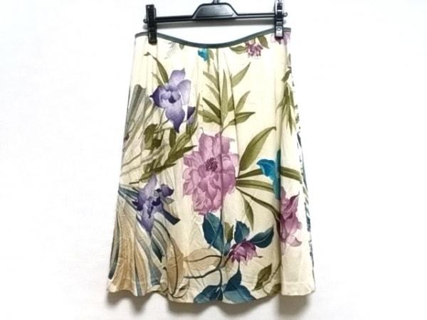 LEONARD(レオナール) スカート レディース アイボリー×マルチ 花柄