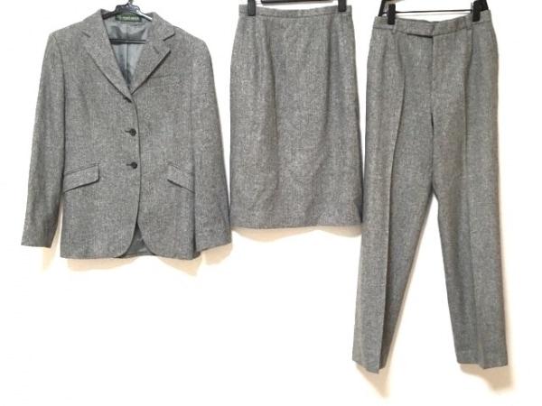 ニューヨーカー スカートスーツ サイズ7 S レディース ダークグレー×ライトグレー