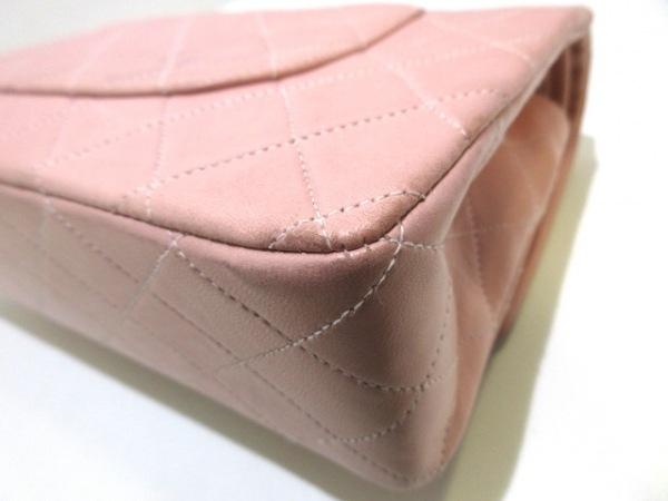 シャネル ショルダーバッグ ダブルフラップマトラッセ A01112 ピンク ラムスキン