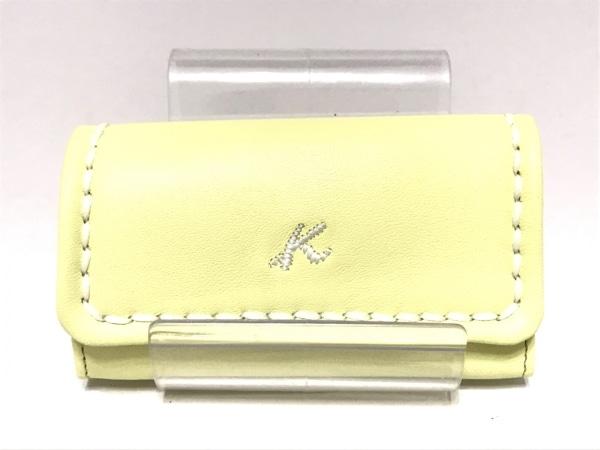 KITAMURA(キタムラ) キーケース美品  - - ライトイエロー 5連フック レザー