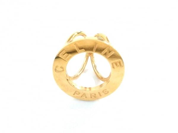 CELINE(セリーヌ) スカーフリング美品  金属素材 ゴールド
