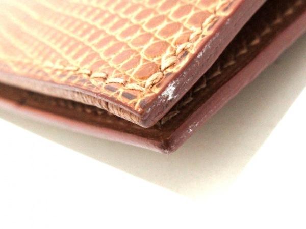 HERMES(エルメス) 長財布美品  ベアン ブラウン 旧型/ゴールド金具 リザード