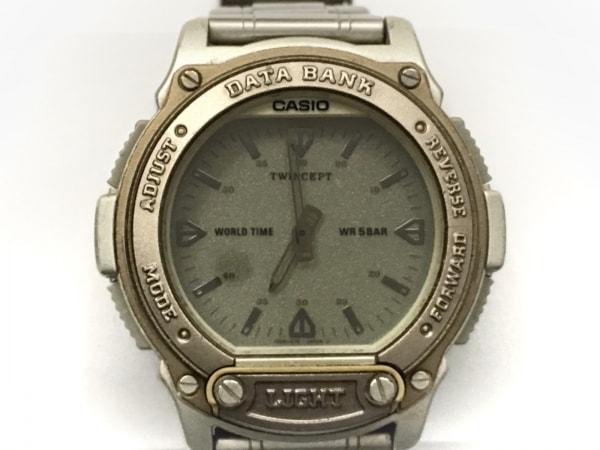 CASIO(カシオ) 腕時計 DATA BANK TWINCEPT ABX-60 メンズ シルバー