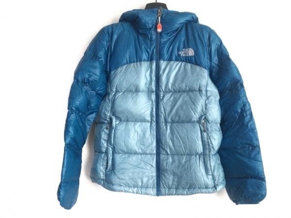ノースフェイス ダウンジャケット サイズM レディース ライトブルー×ブルー