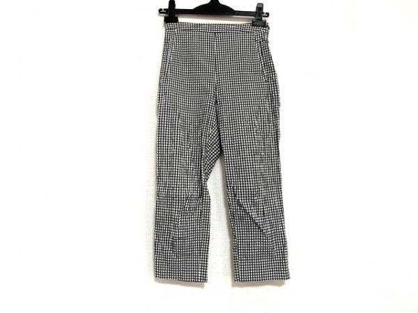 agnes b(アニエスベー) パンツ サイズ36 S レディース 白×ダークグリーン チェック柄