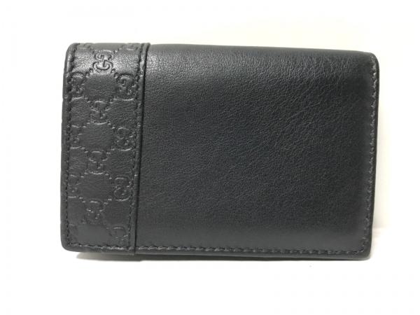 GUCCI(グッチ) カードケース美品  シマライン 308932 黒 レザー
