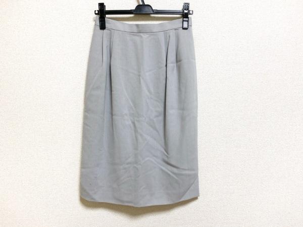 Burberry's(バーバリーズ) スカート サイズ9 M レディース美品  ライトグレー