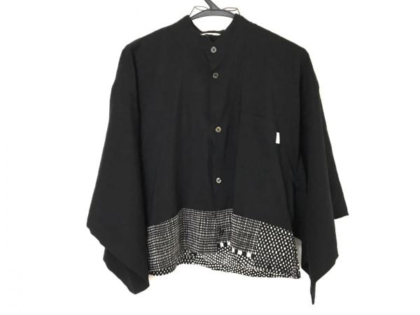 SOU・SOU(ソウソウ) 七分袖シャツブラウス レディース 黒×白
