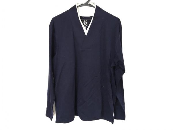 SOU・SOU(ソウソウ) 長袖Tシャツ レディース ネイビー×白