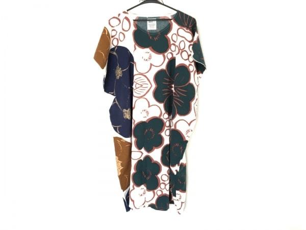 SOU・SOU(ソウソウ) ワンピース レディース 白×ネイビー×マルチ 貫頭衣