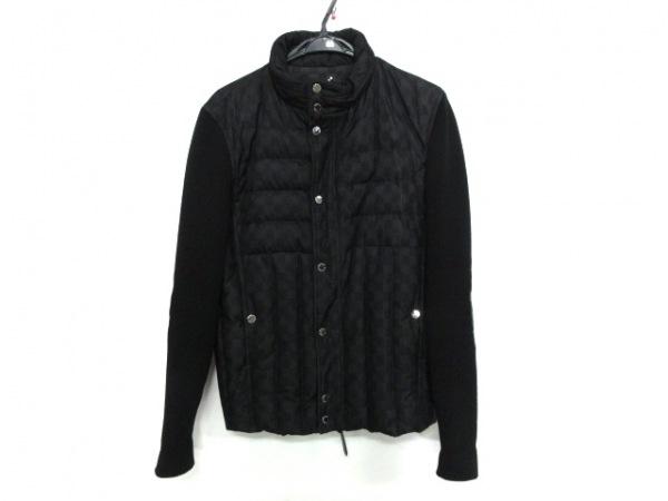 LOUIS VUITTON(ルイヴィトン) ダウンジャケット サイズ46 L メンズ美品  黒×グレー