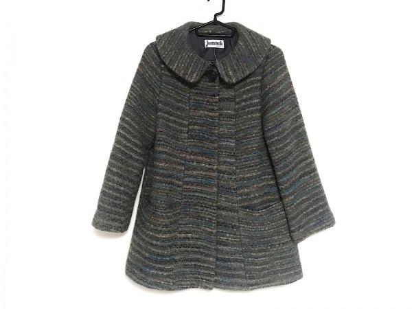 JOCOMOMOLA(ホコモモラ) コート サイズ40 XL レディース美品  グレー×マルチ 冬物
