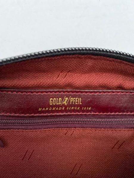GOLD PFEIL(ゴールドファイル) ショルダーバッグ ボルドー レザー