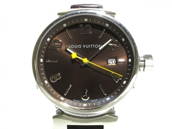 LOUIS VUITTON(ヴィトン) 腕時計 タンブール Q1111 メンズ ダークブラウン